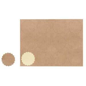 Barna nyomdázható matrica, címke 12 db