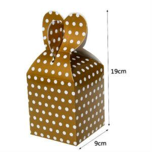 Arany pöttyös papír ajándék doboz fülecskés 6 db