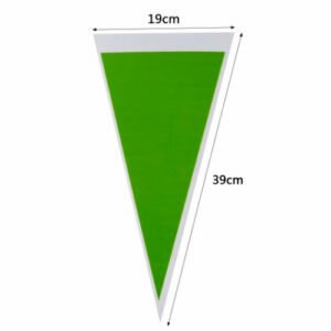 Zöld háromszög tasak, cukorkás zacskó 12 db